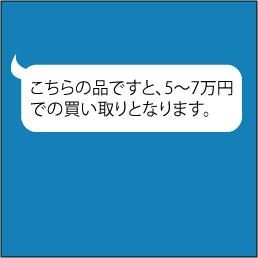 原古美術からのLINE返信例「こちらの品ですと、5~7万円での買い取りとなります。」