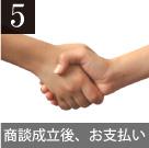 5.商談成立後、お支払い